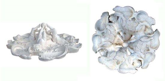 Ornament 35: Hollandse neobarok. 1870. Opengewerkt opzetrozet engelen