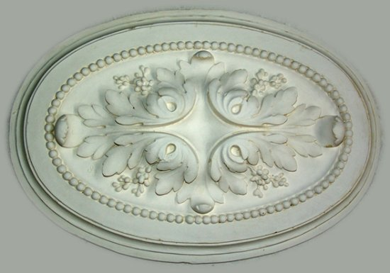Ornament 36: Franse belle epoque. 1880. Ovaal acanthusrozet