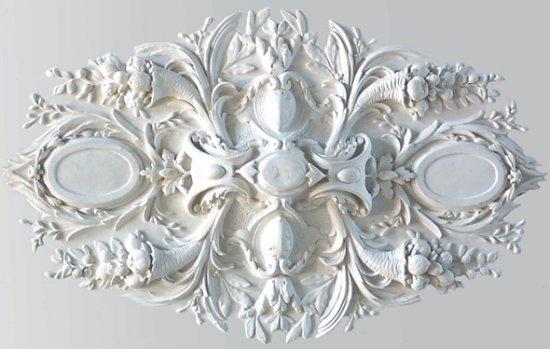 Ornament 37: Hollandse neobarok. 1860. Silberling. Hoorn des overvloedsrozet