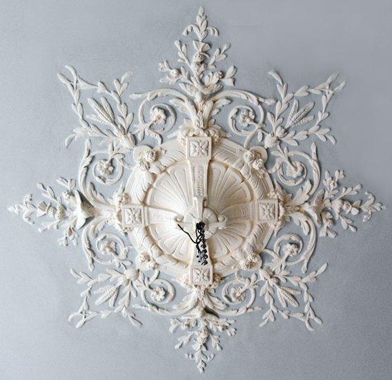 Ornament 47: Franse belle epoque. 1880. Rond vogelrozet