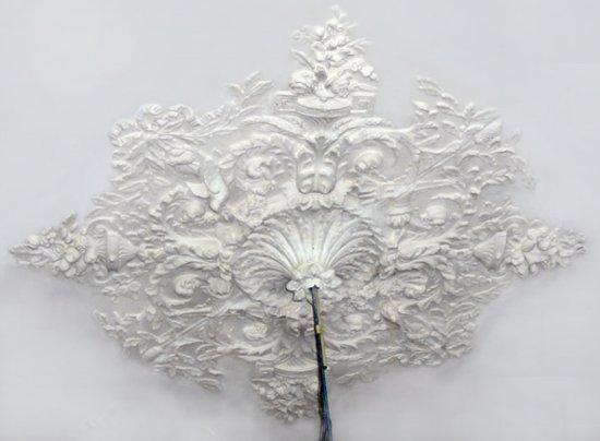 Ornament 51: Franse belle epoque. 1880. Uitgebreid vogelrozet