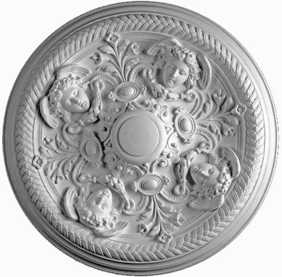 Ornament 57: Hollandse ne barok. 1880. Silberling. Opzetrozet engelen kop